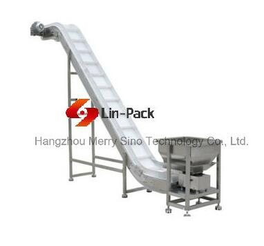 Lin-Pack Wooden Carton Pallets Stainless Steel Incline Conveyor