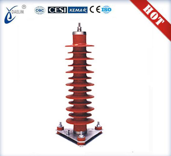 Zinc Oxide Types Of Polymeric 9kv Surge Arrester made in china