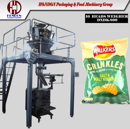Model DXDK-420 Series Automatic Potato Chips Packing Machine