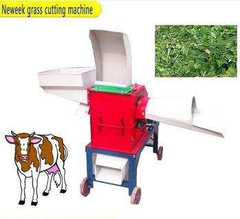 small farm home use rice grain milling straw hay cutting machine