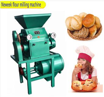 double roller 300kg rice wheat flour milling machine