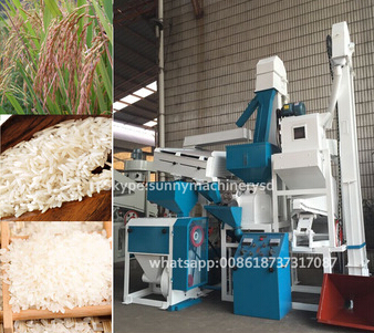 15ton per day modern rice milling machine