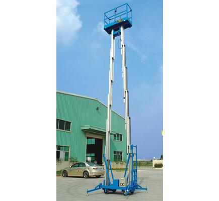 Hot Sale Hydraulic Double Mast Aluminum Two Man Lift Platform