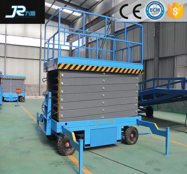 Hydraulic Cylinder Easy Operation Two Man Mobile Scissor Lift Platform