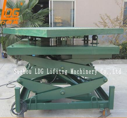 SJG0.3-2 Rotation table hydraulic scissor weight lifting machine