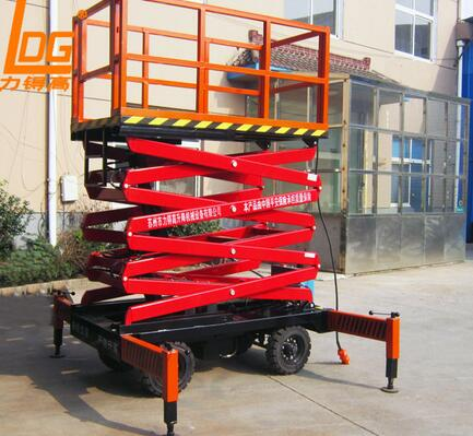 SJY0.5-4 high quality china 4m hydraulic scissor manual lift