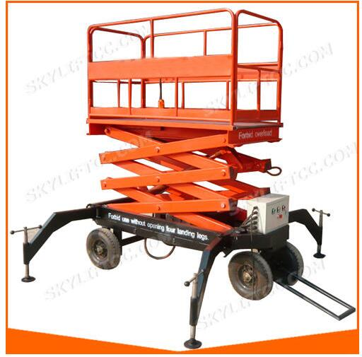 ISO 9001 Hydraulic Special Weight Level Mobile Electric Scissor Lift