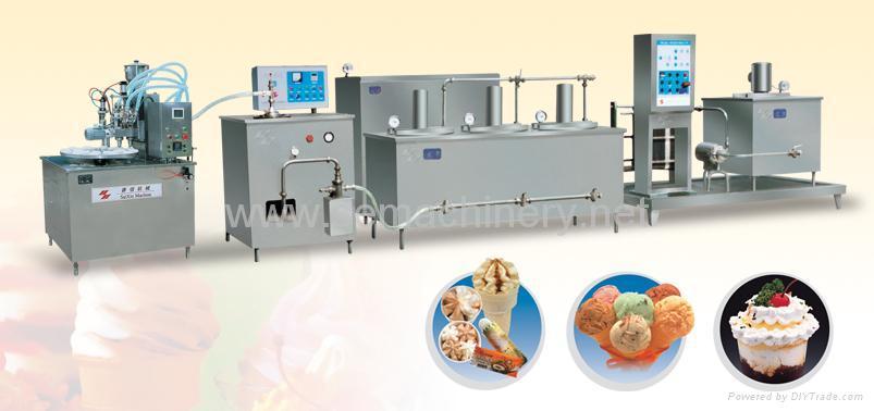 ice cream machine production line