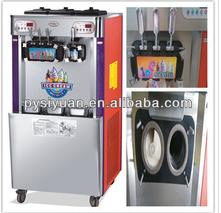4 flavors rainbow soft ice cream machine