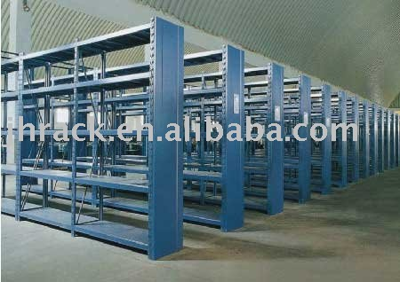 Warehouse storage small goods with longspan racking