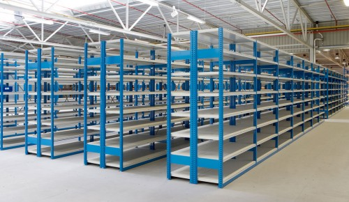 Warehouse storage drive in pallet racking