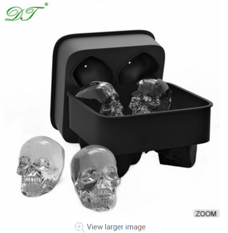 Chillz Ice Ball Mold /Silicone ball shaped ice cube tray/Skull Round Ice Ball Spheres tray
