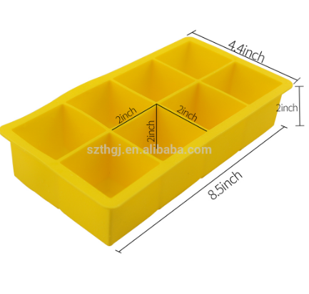Customized giant ice tray silicone ice cube mold for wine