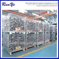 Warehouse Galvanized Foldable Mesh Container