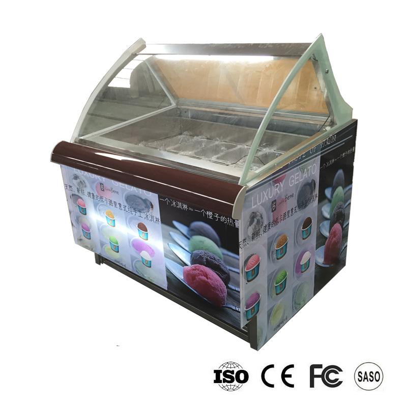 soft ice cream showcase