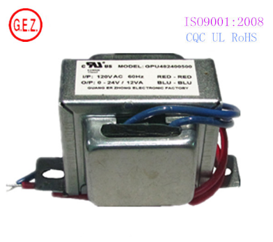 UL certificate isolation ei48 power transformer 120v 24vac