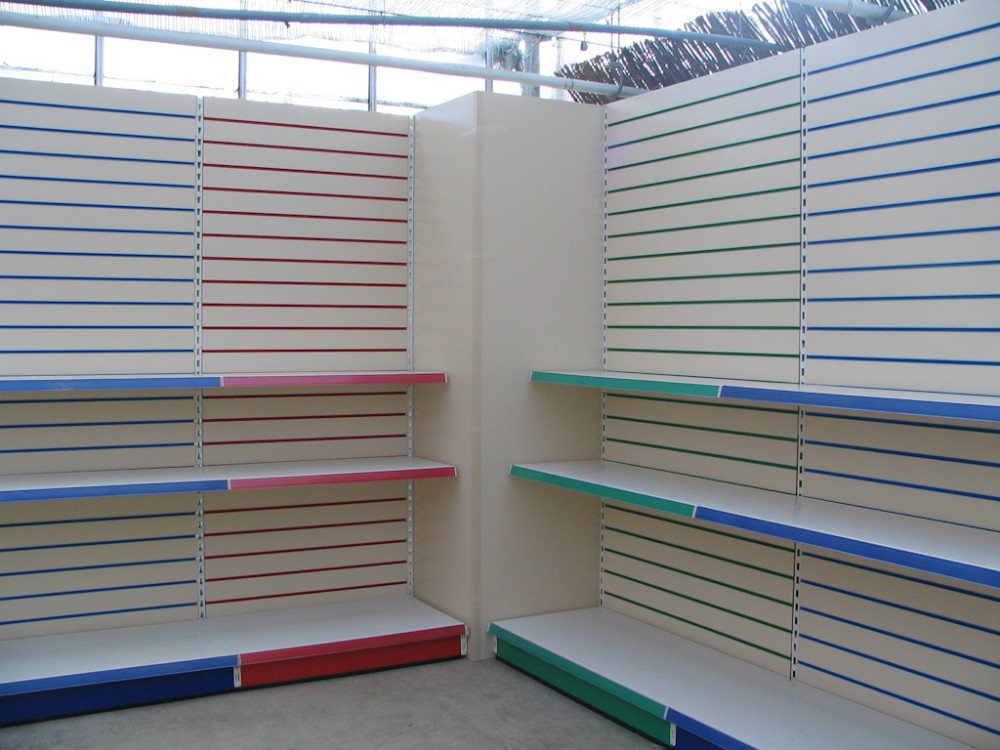 Professional and ISO Certificated slatwall shelving