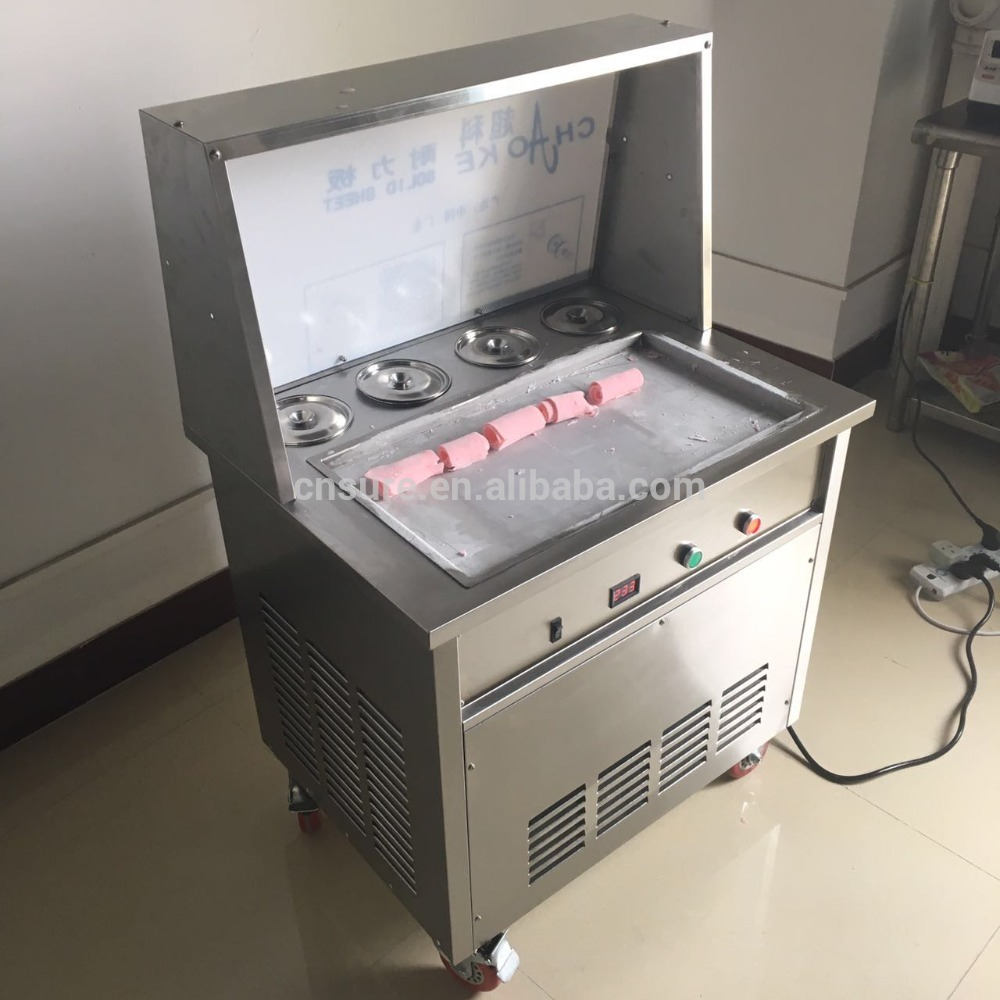 New products thailand flat pan fry ice cream roll machine for sale