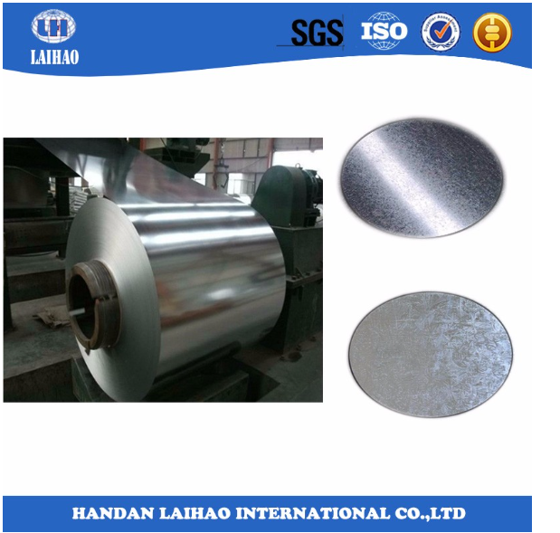 Cold rolled galvanized steel sheet in coil
