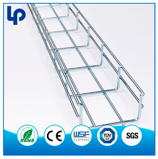 Hot Dipped Galvanizing galvanised steel wire mesh cable tray