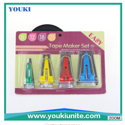 Good quality Tape Maker Set 6MM 12MM 18MM 25MM Sewing Quilting Tools