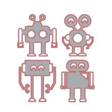 Paper Cutting Die Scrapbook Robots Craft Cutting Dies for Card Making