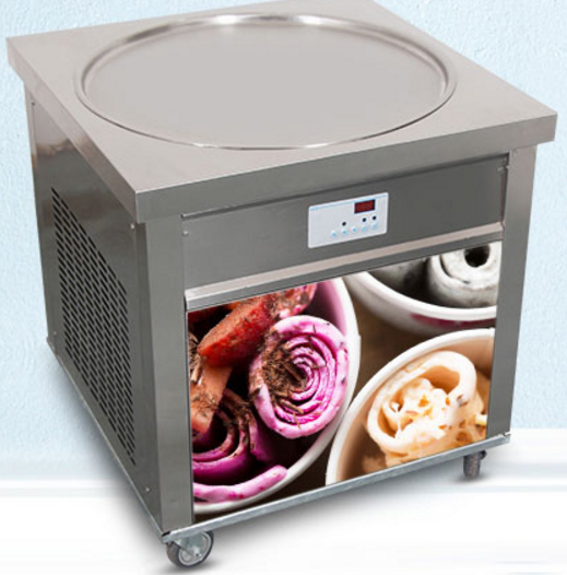 Single pan fry ice cream machine