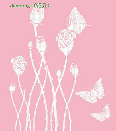Beautiful PP drawing butterflies and flowers stencils for kids