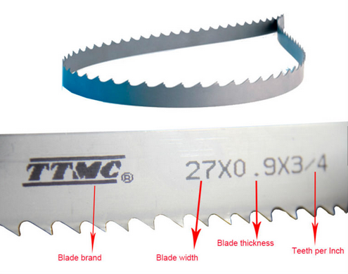 27X0.9X3/4X3960 bi-metal bandsaw blades