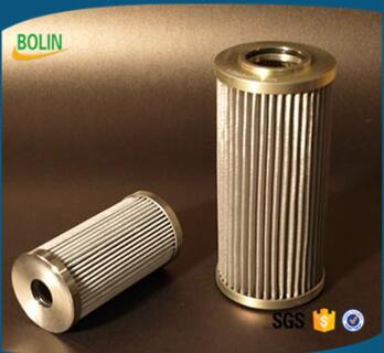 Stainless steel brass folded woven mesh filter tube for oil filter
