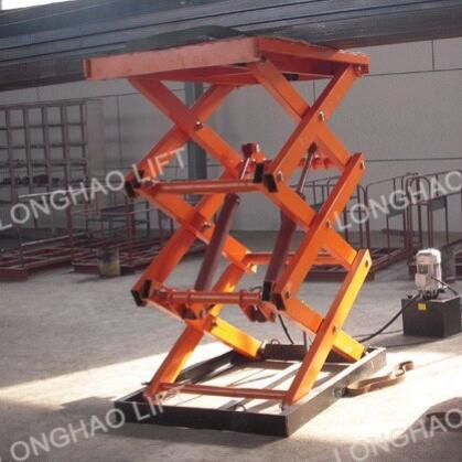 SJY0.3-4 Longhao warehouse used small car electric scissor lift table