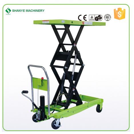 SHANYE SYTJ-100S external double lift cylinders scissor lifting table