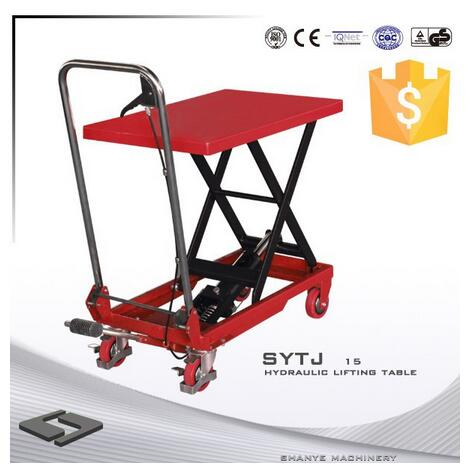 SYTJ-15 Series CE ISO9001 150Kg Hydraulic scissor lift table