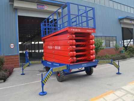 SJPT03 12M skyjack lifts tables Mobile hydraulic scissor lift platform