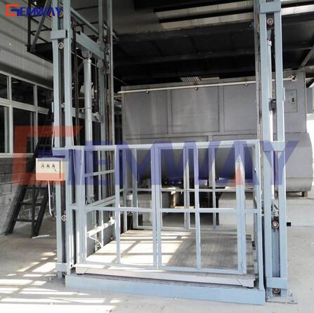 China hydraulic vertical freight electric material goods lift elevator