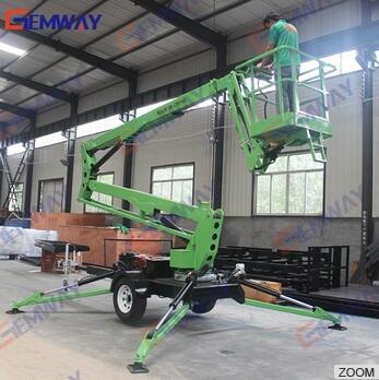 8m Towable pickup truck mounted boom hydraulic lift platform