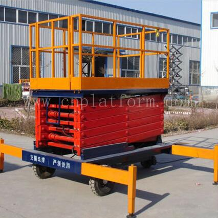 SJY0.5-11 High-strength manganese steel Hydraulic Mobile Elevator