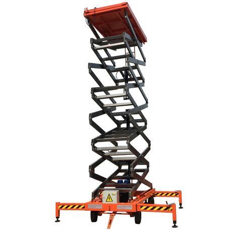 SJY0.3-3 4 Wheels Mobile Hydraulic Scissor Lift Platform for sale