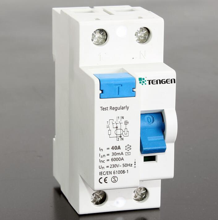 New type TGF360N1 residual 2P miniature circuit breaker MCB