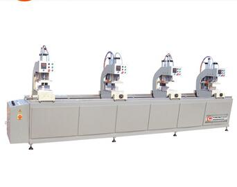Four-head welding machines for making pvc windows and doors