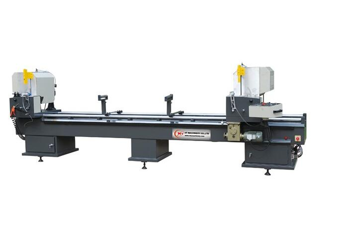 Automatic double-head cutting saw for making aluminum and PVC windows and door/Automatic pvc pipe cutting machine