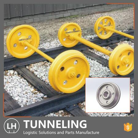 OEM/ODM Customized Cast Steel Rail Wheel with Rims for Rolling Cart