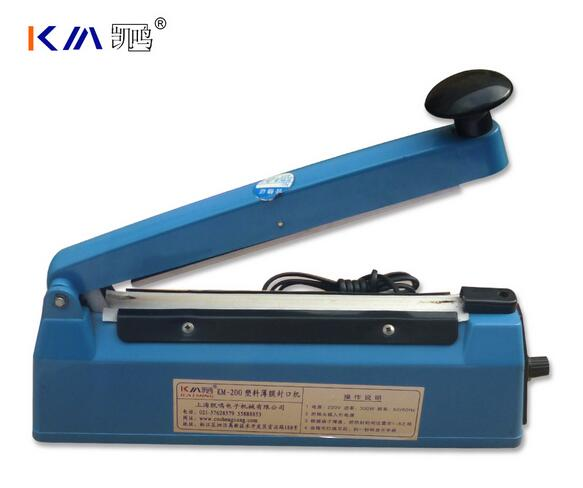 KM-200 Plastic body hand impulse sealer Vacuum sealing machine