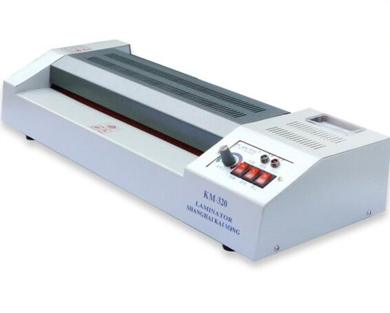 KM-320 ISO 9001  8.5kg Automatic laminator machine pvc cards