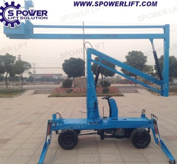 Products sell like hot cakes folding boom lift with competitive price