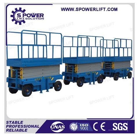 Indoor outdoor used electric power mobile scissor warehouse platform lift