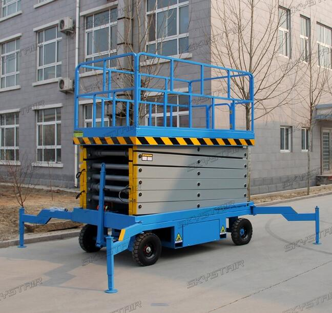 SKYSTAIR 300-500kg Movable manual hydraulic scissor lift platform