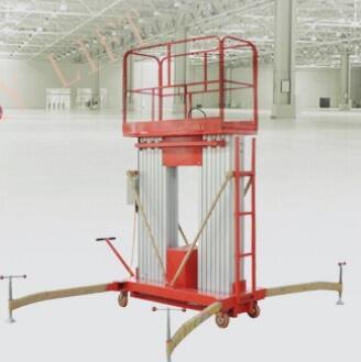 ISO certificate 2 Mast Aluminum Lift Platform Aerial Work Platform