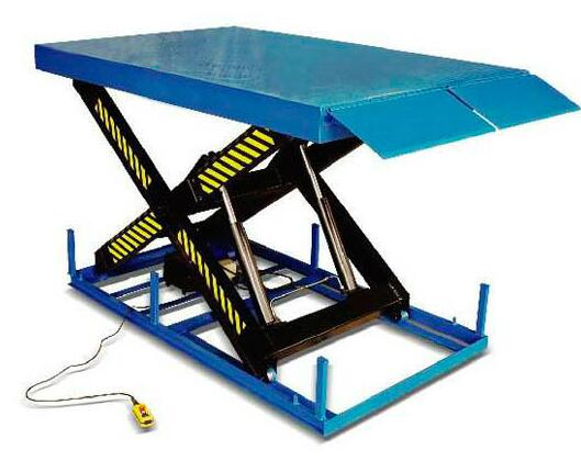 Hot sale !! SJG warehouse hydraulic raising platform for cargo