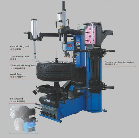 Automatic  Flat Disassembly Tyre Changer